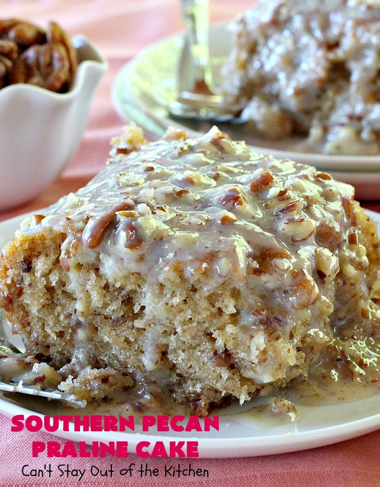 southern pecan praline cake southern pecan praline cake can t stay out of the kitchen 7600