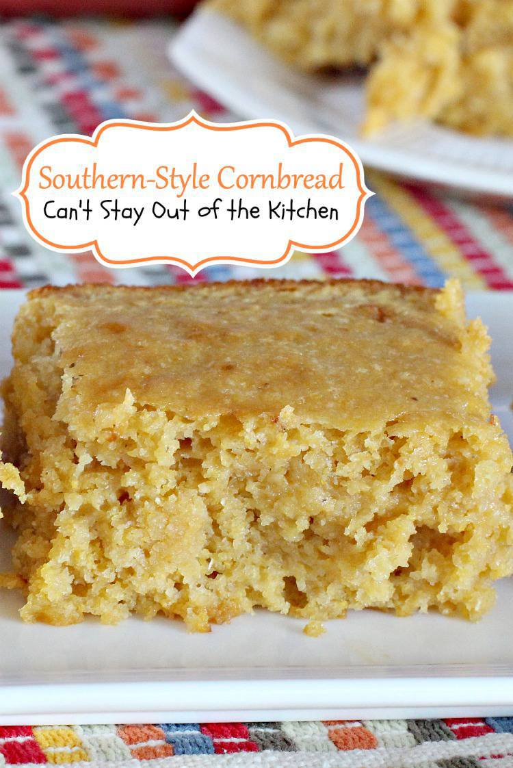 southern style cornbread with corn