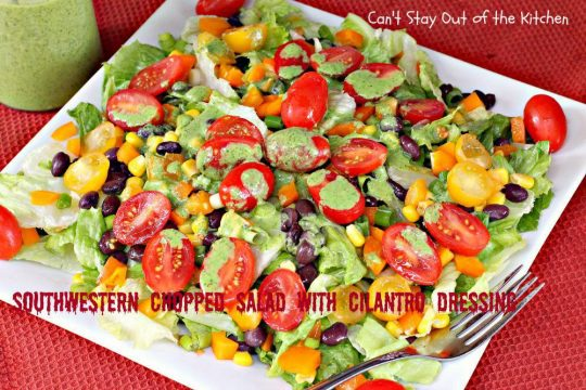 Southwestern Chopped Salad with Cilantro Dressing - IMG_2788