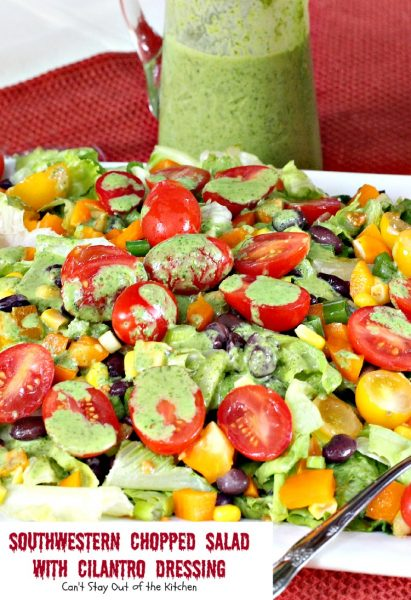 Southwestern Chopped Salad with Cilantro Dressing - IMG_2822