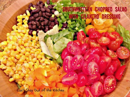 Southwestern Chopped Salad with Cilantro Dressing - IMG_7736