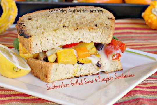 Southwestern Grilled Swiss and Pumpkin Sandwiches - IMG_3515
