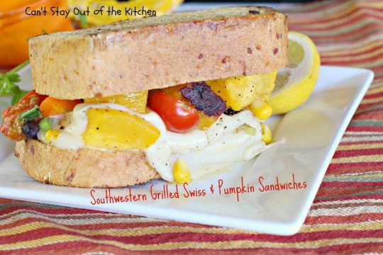 Southwestern Grilled Swiss and Pumpkin Sandwiches - IMG_3523