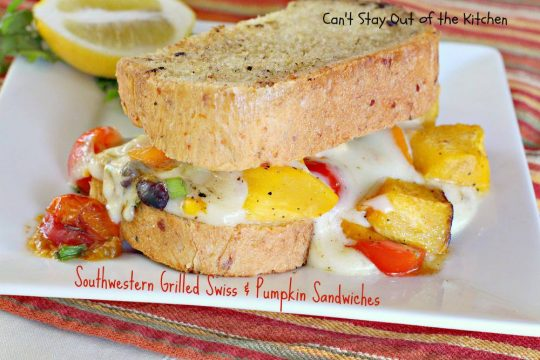 Southwestern Grilled Swiss and Pumpkin Sandwiches - IMG_3539
