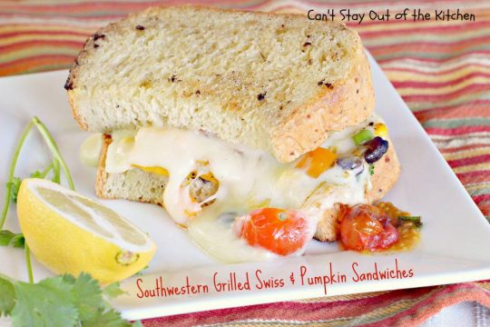 Southwestern Grilled Swiss and Pumpkin Sandwiches - IMG_3541