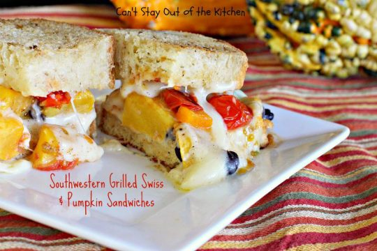 Southwestern Grilled Swiss and Pumpkin Sandwiches - IMG_3554