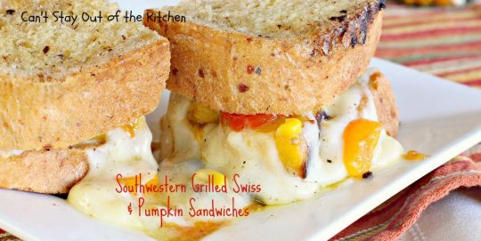 Southwestern Grilled Swiss and Pumpkin Sandwiches - IMG_3559