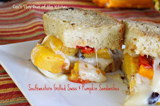 Southwestern Grilled Swiss and Pumpkin Sandwiches - IMG_3565
