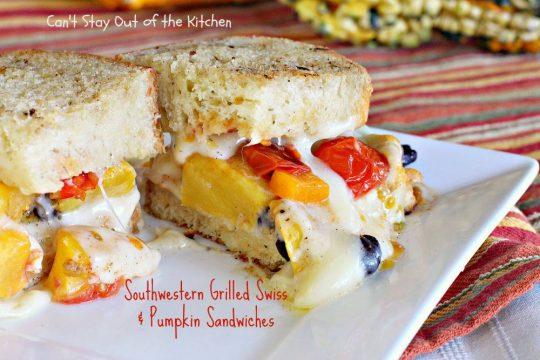 Southwestern Grilled Swiss and Pumpkin Sandwiches - IMG_3566