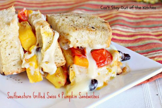 Southwestern Grilled Swiss and Pumpkin Sandwiches - IMG_3570