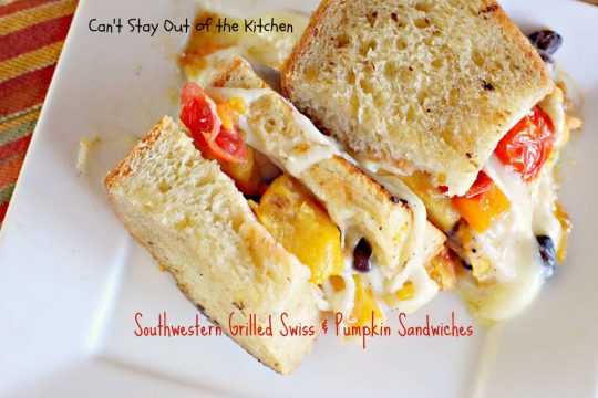 Southwestern Grilled Swiss and Pumpkin Sandwiches - IMG_3575