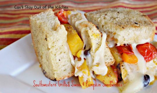 Southwestern Grilled Swiss and Pumpkin Sandwiches - IMG_3579