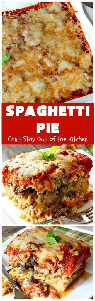 Spaghetti Pie | Can't Stay Out of the Kitchen