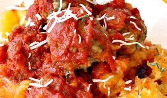 Spaghetti Squash and Parmesan Meatballs