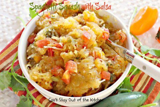 Spaghetti Squash with Salsa - IMG_0136