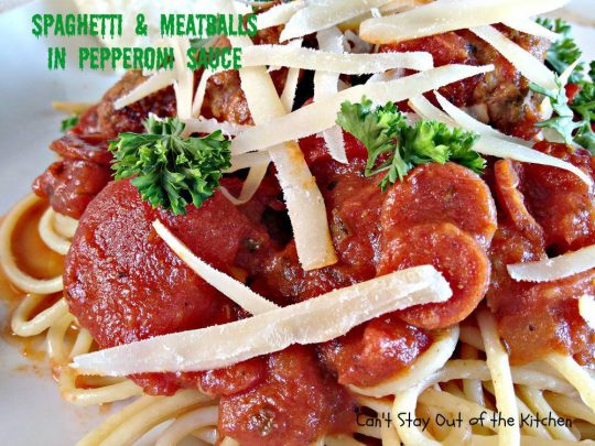 Spaghetti and Meatballs in Pepperoni Sauce - IMG_4805