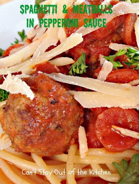 Spaghetti and Meatballs in Pepperoni Sauce - IMG_4810