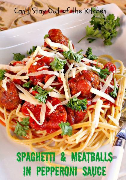 Spaghetti and Meatballs in Pepperoni Sauce - IMG_9969