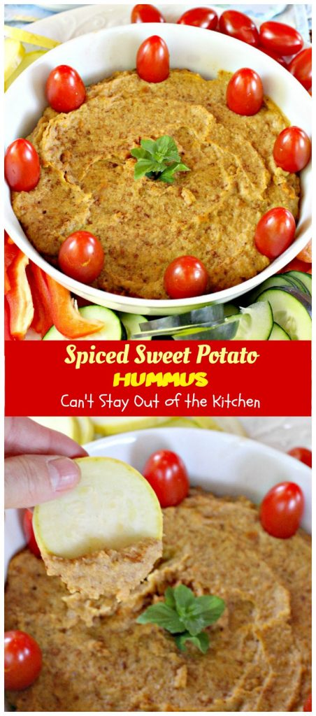 Spiced Sweet Potato Hummus | Can't Stay Out of the Kitchen