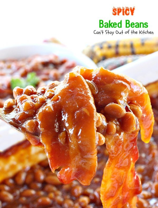 Spicy Baked Beans | Can't Stay Out of the Kitchen
