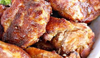Spicy Honey-Brushed Chicken Thighs