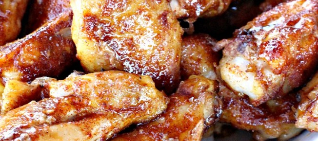 Spicy Honey Hot Wings | Can't Stay Out of the Kitchen | fabulous #chickenwings #appetizer that's wonderful for #SuperBowl or #tailgating parties. #chicken #glutenfree