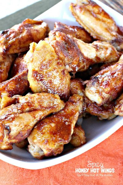Spicy Honey-Brushed Hot Wings | Can't Stay Out of the Kitchen