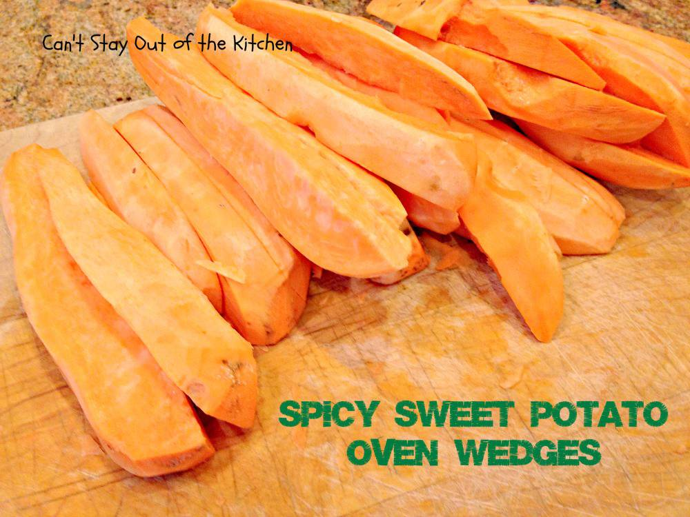 how to make baked sweet potato wedges in the oven