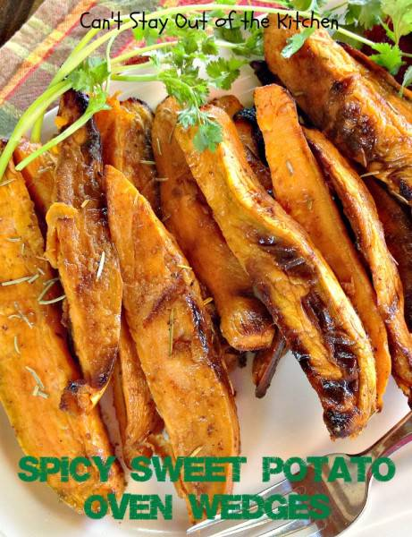 how to cut sweet potato wedges in oven