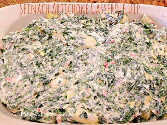 Spinach Artichoke Casserole Dip - IMG_9419.jpg