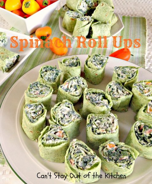 Spinach Roll Ups | Can't Stay Out of the Kitchen
