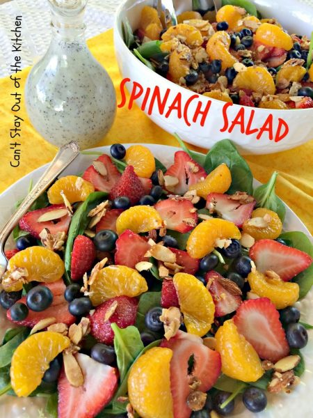 Spinach Salad | Can't Stay Out of the Kitchen