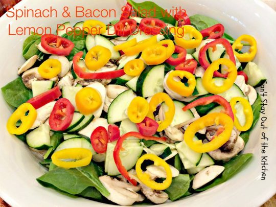 Spinach and Bacon Salad with Lemon Pepper Dill Dressing - IMG_2656.jpg