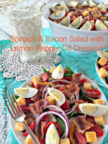 Spinach and Bacon Salad with Lemon Pepper Dill Dressing - IMG_2668.jpg
