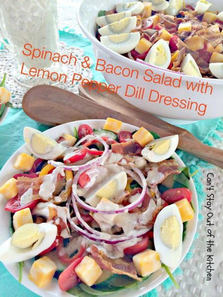 Spinach and Bacon Salad with Lemon Pepper Dill Dressing - IMG_2721.jpg