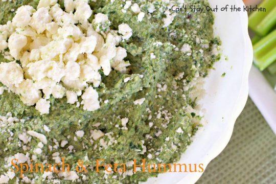 Spinach and Feta Hummus - IMG_1308