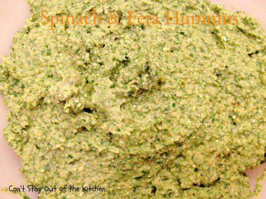 Spinach and Feta Hummus - IMG_6519