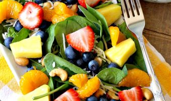 Spinach and Fruit Salad with Poppy Seed Dressing