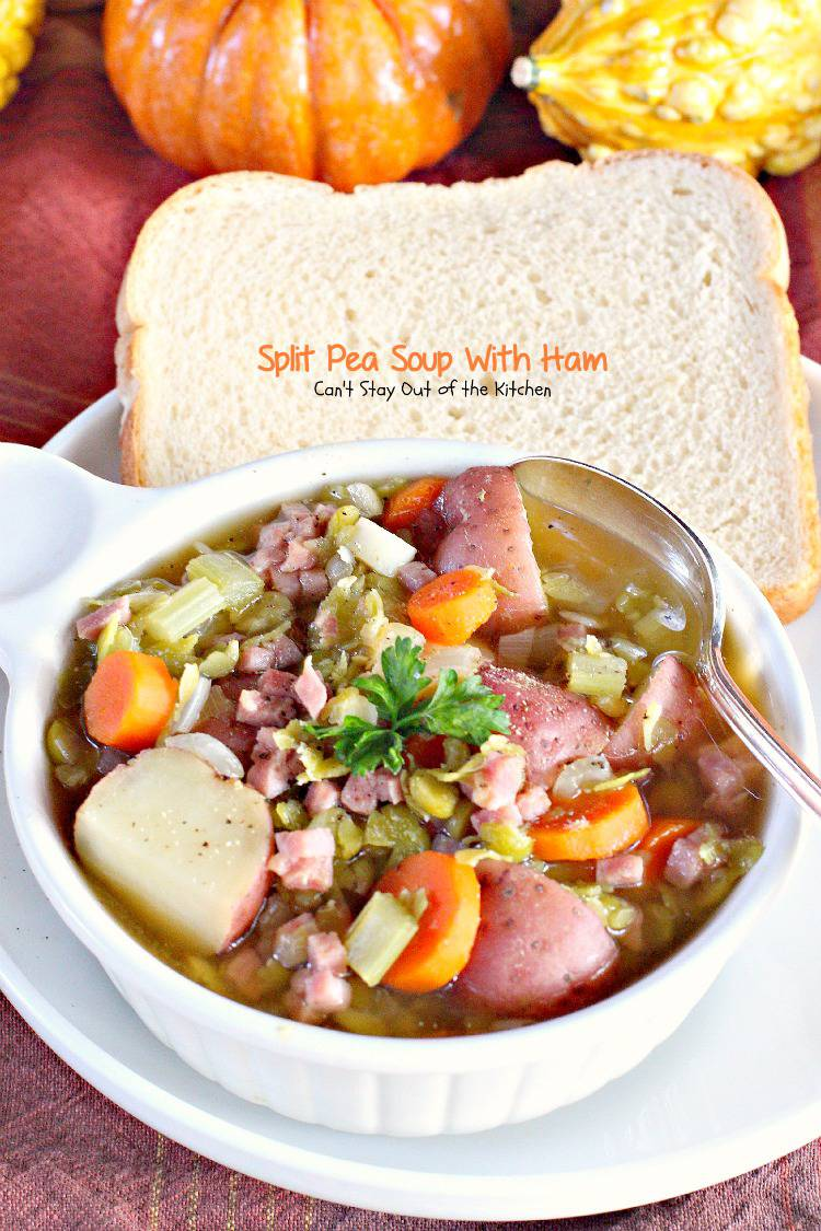 Split Pea Soup with Ham is one of those southern soups that I didn't ...