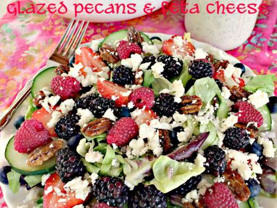 Spring Mix with Berries, Glazed Pecans and Feta Cheese - IMG_3843.jpg
