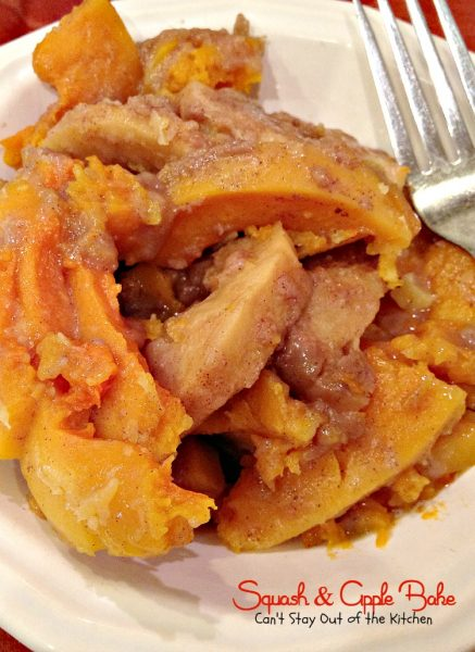 Squash and Apple Bake | Can't Stay Out of the Kitchen | this  #apple and #butternutsquash #casserole is drizzled with a cinnamon-brown sugar glaze and is a wonderful choice as a #holiday #sidedish or for company.