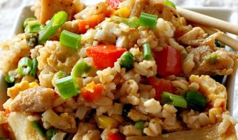 Sriracha Chicken Fried Rice