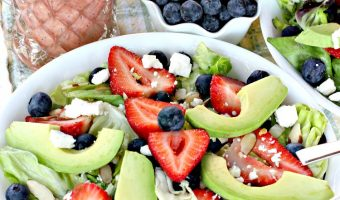 Strawberry Blueberry Avocado Salad with Strawberry Poppyseed Vinaigrette