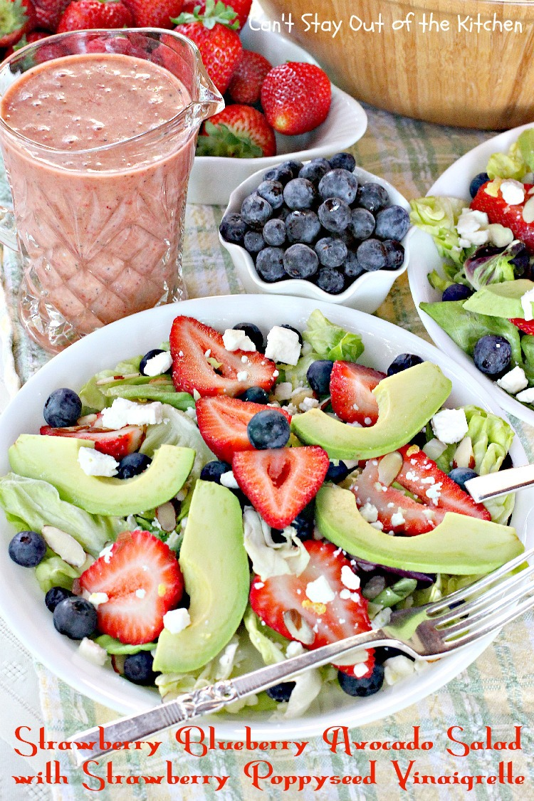 Strawberry And Avocado Salad With Honey Maple Poppy Seed Vinaigrette ...