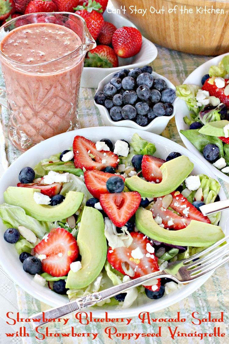Blueberry Avocado Salad with Strawberry Poppyseed Vinaigrette ...