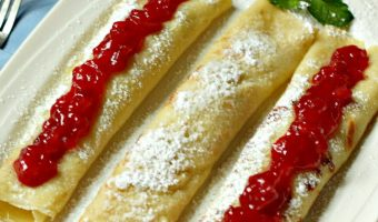 Strawberry Breakfast Crêpes