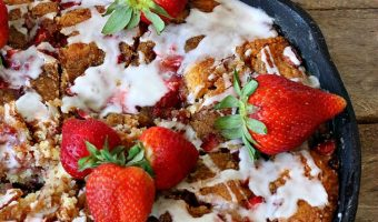 Strawberry Crumb Coffee Cake