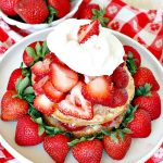The BEST Strawberry Shortcake | Can't Stay Out of the Kitchen | This mouthwatering #dessert is terrific for the #FourthofJuly, other summer #holidays, picnics, backyard BBQs or potlucks. #strawberries