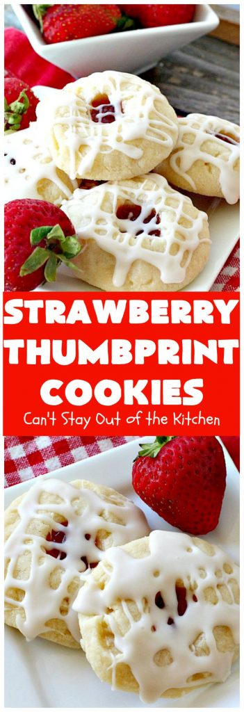 Strawberry Thumbprint Cookies | Can't Stay Out of the Kitchen