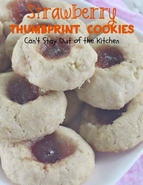 Strawberry Thumbprint Cookies Can T Stay Out Of The Kitchen